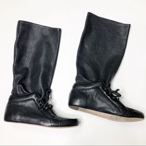 Balenciaga Paris Lace up Shoe Boots Perforated 38